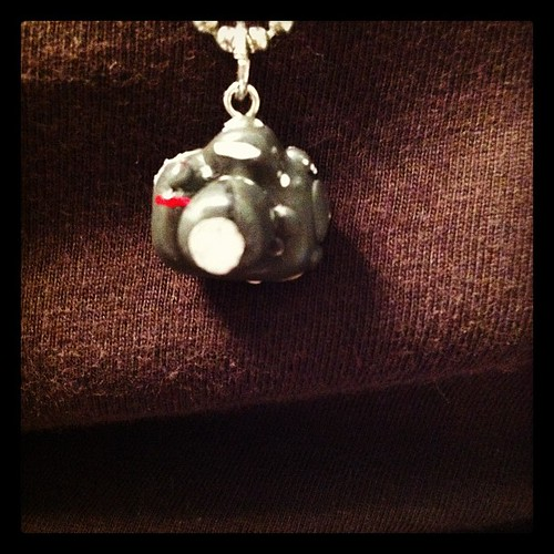 My necklace is a painted clay model of my camera, made for me by @sprittibee's daughter! | by Dawn Camp
