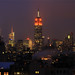 Orange & White lights for 35th Annual Empire State Building Run-up