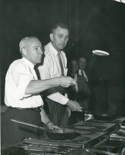 Roland R. Renne Flips a Pancake | by Montana State University (MSU) Library