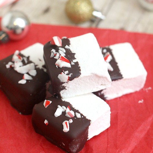 Homemade Peppermint Marshmallows | by Tracey's Culinary Adventures