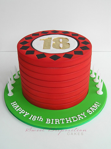 18th casino chip cake | by Sweet Disposition Cakes