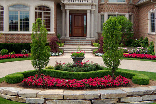 Circular Driveway Design by Paul Marcial Landscapes | by Landscape Design Advisor