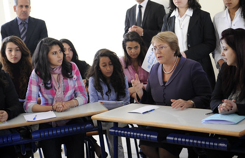 UN Women Executive Director Michelle Bachelet visits High School in Rabat, Morocco | by UN Women Gallery