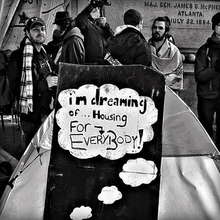 """I'm Dreaming Of Housing For Everybody"", Occupy DC, McPherson Square, Washington, DC 