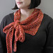 polka spot fingering weight scarf