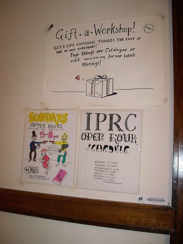 IPRC Open Hours Sign, etc. | by urbanadventureleaguepdx