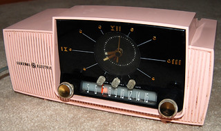 Pink General Electric Clock Radio, 1950's | by Roadsidepictures