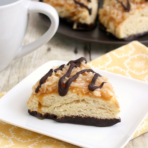 Samoas Scones | by Tracey's Culinary Adventures