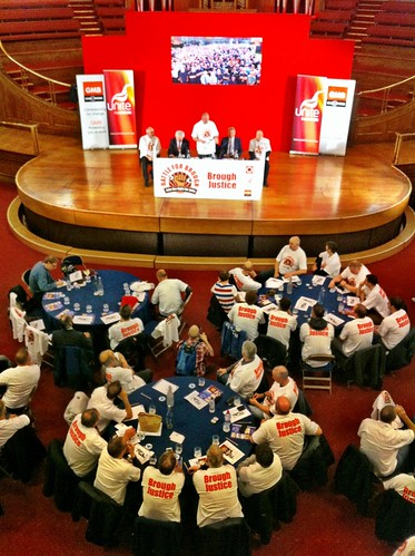 Battle for Brough - BAE Brough workers demo at the company's shareholder AGM | by Unite the Union.