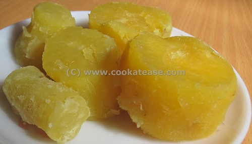 Boiled Sweet Potato (Sarkarai Valli Kizhangu) | by cookatease