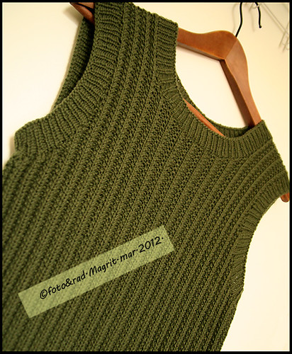 green Rowan vest - finished | by Magrit