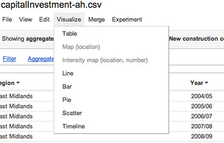 Google Fusion tables visuliastion options | by psychemedia