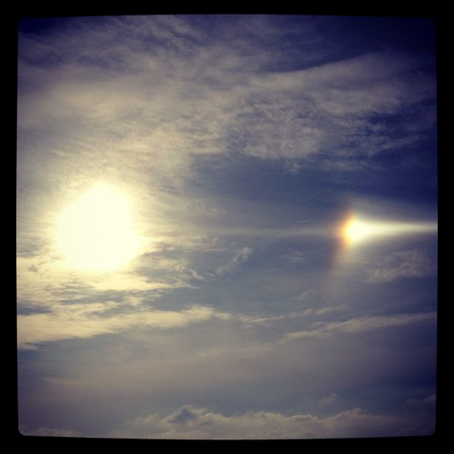 Sun dog over Brighton beach | by Paul Woods Music & Event Photography