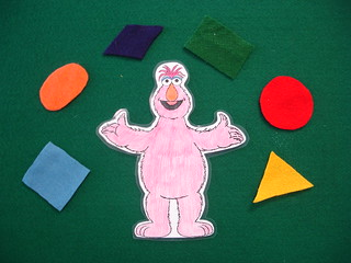 Shape Monster Flannel Board | by Clermont County Public Library