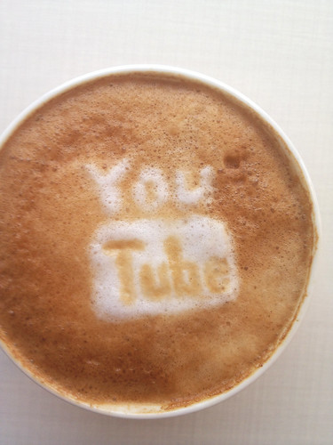 Today's latte, YouTube.