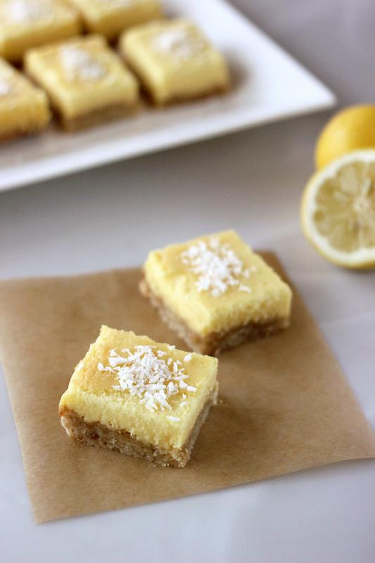Meyer Lemon Bars - Gluten-free, Grain-free, Dairy-free + Refined Sugar-free