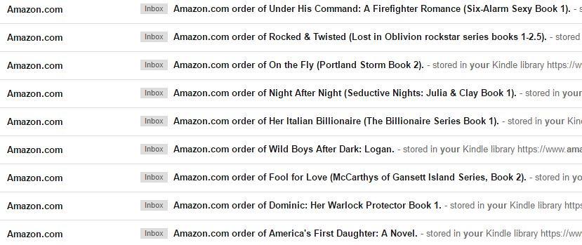 Amazon free books purchased