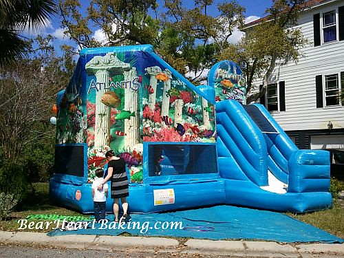 Mermaid Party Bounce House | by BearHeartBaking
