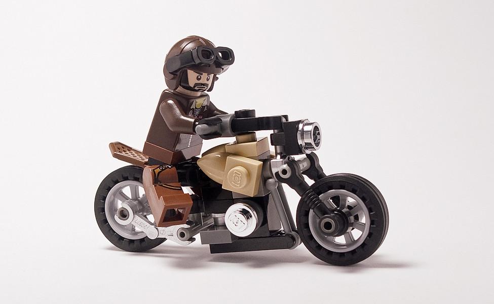 Смотреть как сделать мотоцикл из лего