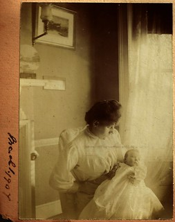 Ethel Hook and baby John, 1 March 1907 | by whatsthatpicture