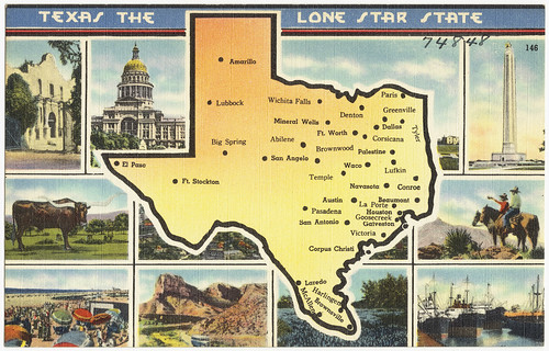 Texas the lone star state | by Boston Public Library