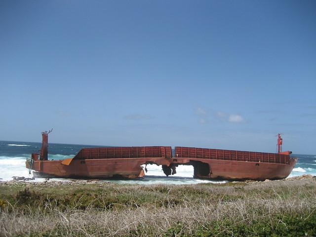 Gabarra Prima en el PR-G 158 Ruta da Costa da Morte