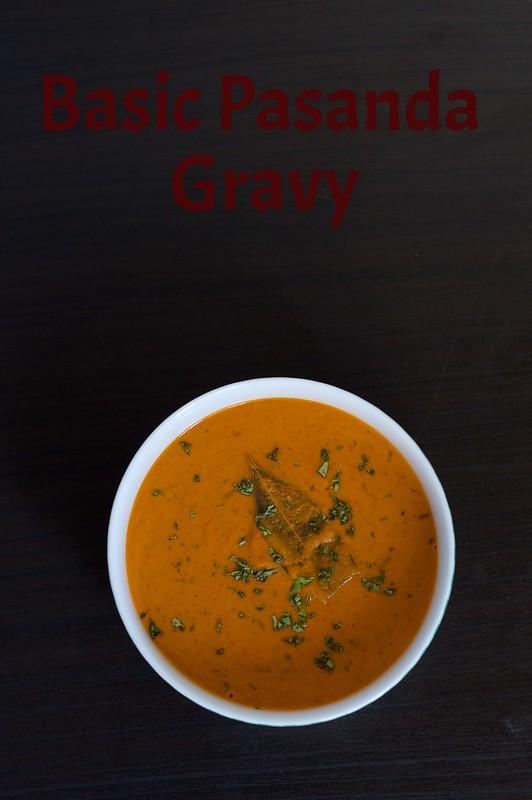 Basic Pasanda Gravy