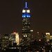 Empire State Building in Blue & White in honor of the 105th Millrose Games