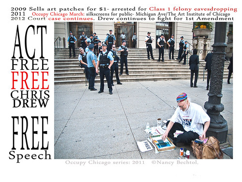 CHRIS DREW silkcreens at Occupy Chicago March/AIC | by beartnow