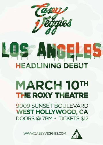 Casey Veggies. Saturday, March 10, 2012. | by The Roxy Theatre