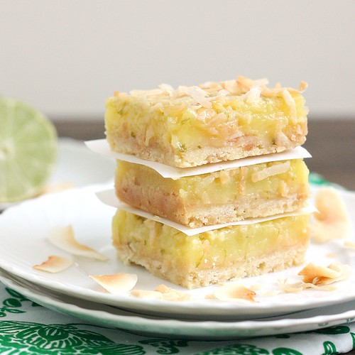 Coconut Lime Squares | by Tracey's Culinary Adventures