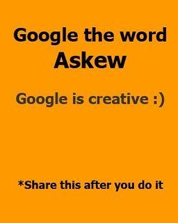 Google the Word Askew | by @fredsko