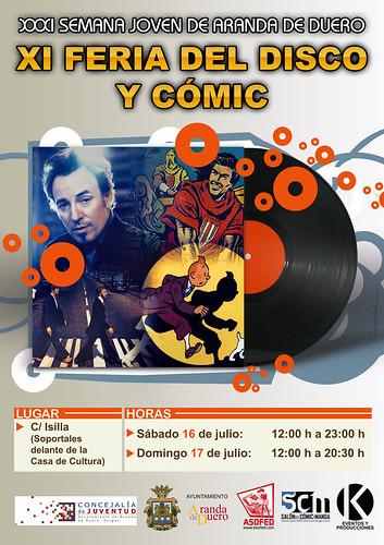XI Feria del Disco y Cómic de Aranda de Duero. 31ª Semana Joven.