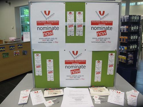 Volunteer display, South Library