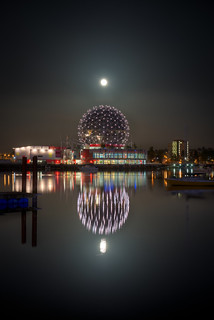 Vancouver Science World Supermoon | by Mike Heller