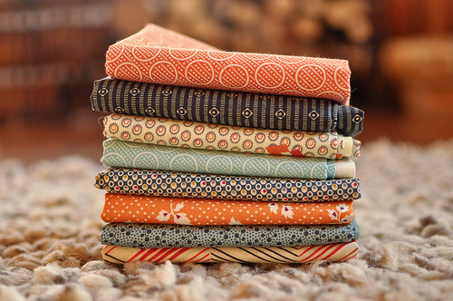 Fabrics for Maisy's quilt | by make_something