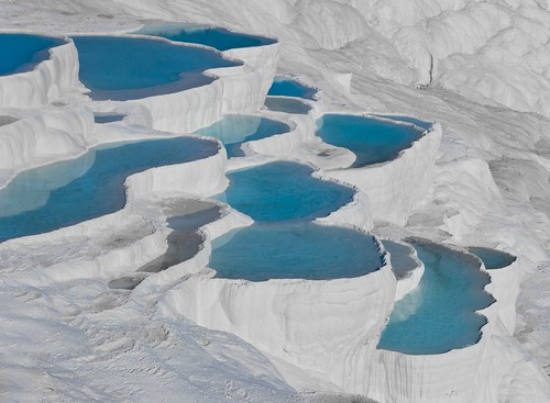 Almost like another planet... Pamukkale blues in Turkey (UNESCO world heritage site) - Can you help me to get 1100 faves? ;-) | by Maria_Globetrotter (not globetrotting)