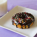 Chocolate-Glazed Funfetti Doughnuts - 7
