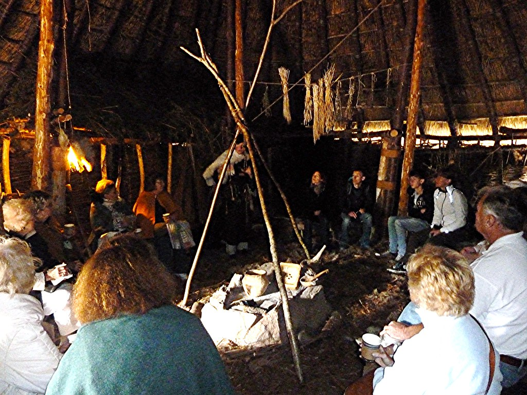 Inside Crannog on Loch Tay, Scotland.