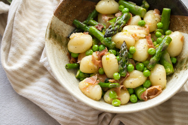 Brown Butter Gnocchi with Asparagus and Peas