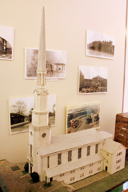 Model Train Version of Nashville Landmarks: Woodmont Christian Church