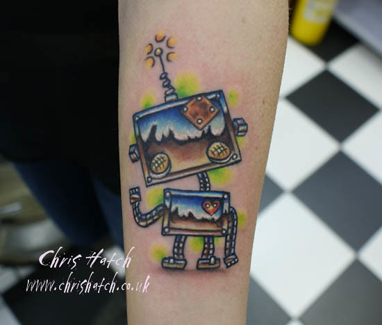 Cute Robots Tattoos Cute Robot Tattoo Flickr