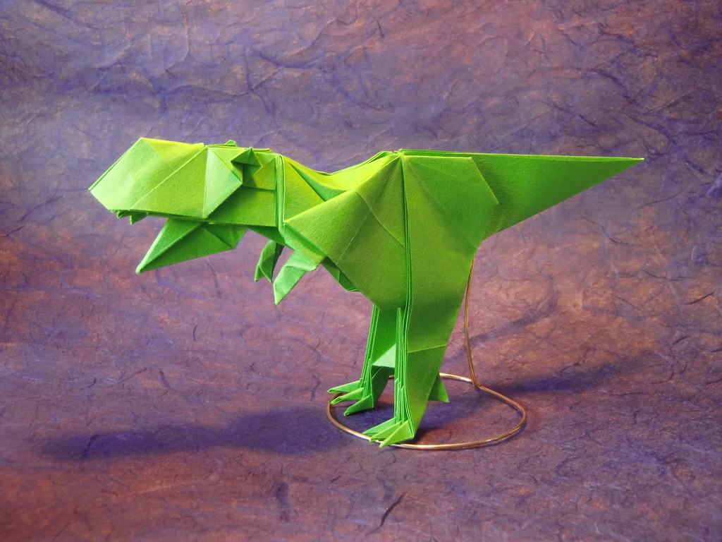 Easy t Rex Origami Origami Jacobo T-rex by