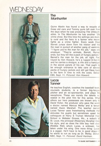 1974 TV Guide Fall Preview - The Manhunter and Lucas Tanner | by Paxton Holley