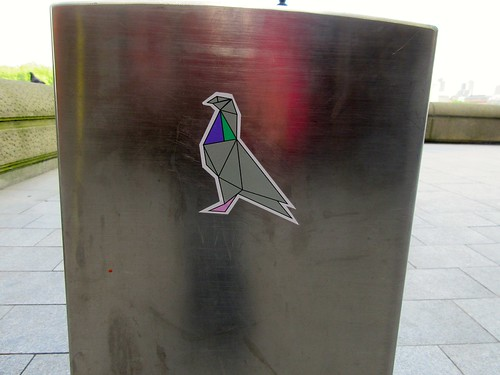 Pigeon Sticker on the South Bank