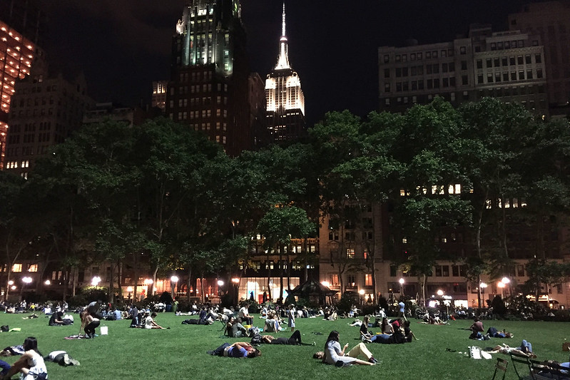 Evening in Bryant Park