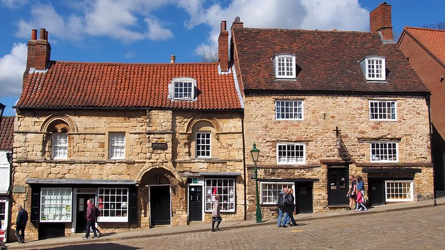 'Jews House' and 'Jews Court' - c13thC Norman town houses - Steep Hill, Lincoln, Lincolnshire, England