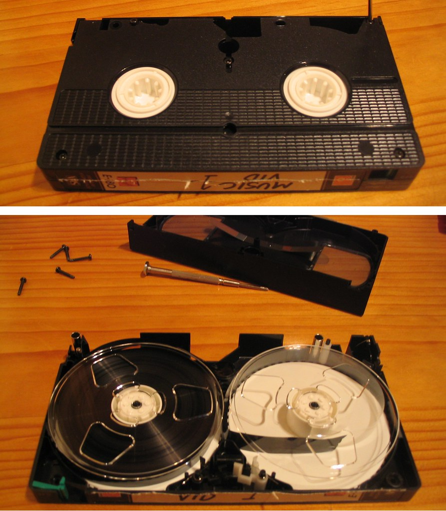 VHS video tape