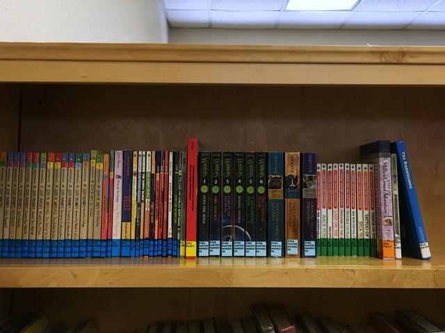 Books, rainbow