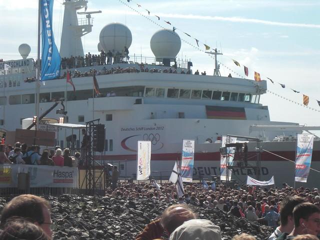 Willkommen der deutschen Olympioniken in Hamburg